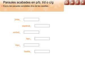 Paraules acabades en p/b, t/d, c/g